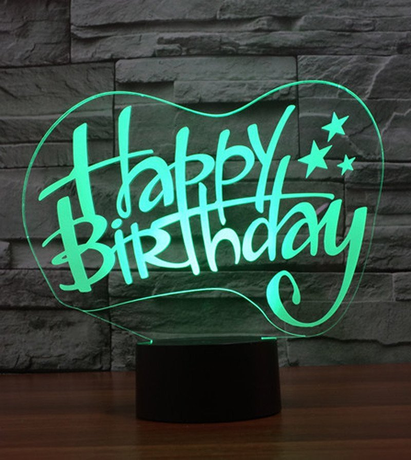 Happy Birthday 3d Images Happy Birthday 3d Led Lamp