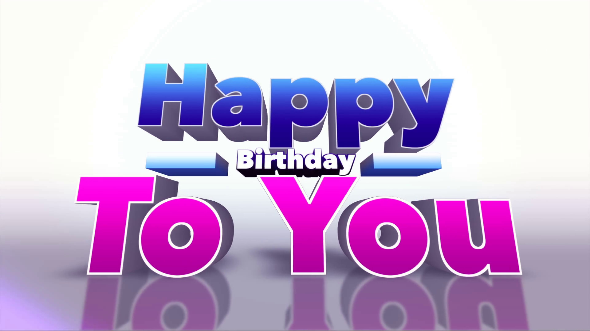 Happy Birthday 3d Images Happy Birthday to You Colourful 3d Motion Background