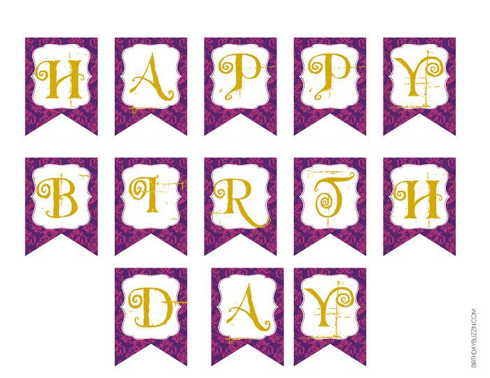 Happy Birthday Sign Template Chandeliers & Pendant Lights