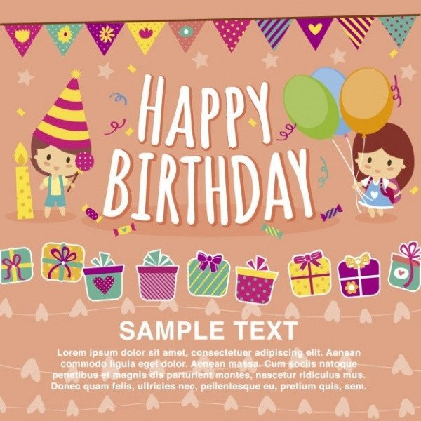 Happy Birthday Template Word 32 Kids Birthday Invitations & Ideas Psd Vector Eps