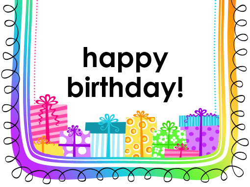 Happy Birthday Template Word Birthday Card Ts On White Background Half Fold