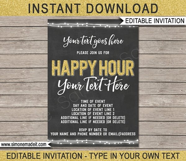 Happy Hour Invitation Template 14 Happy Hour Invitation Designs & Templates Psd Ai