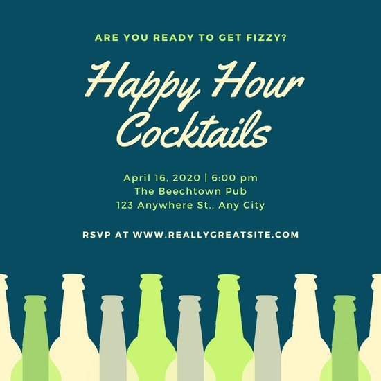 Happy Hour Invitation Template Customize 73 Happy Hour Invitation Templates Online Canva