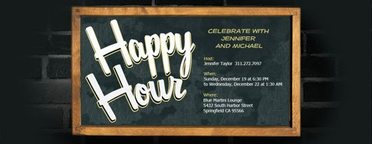 Happy Hour Invitation Template Happy Hour Free Online Invitations