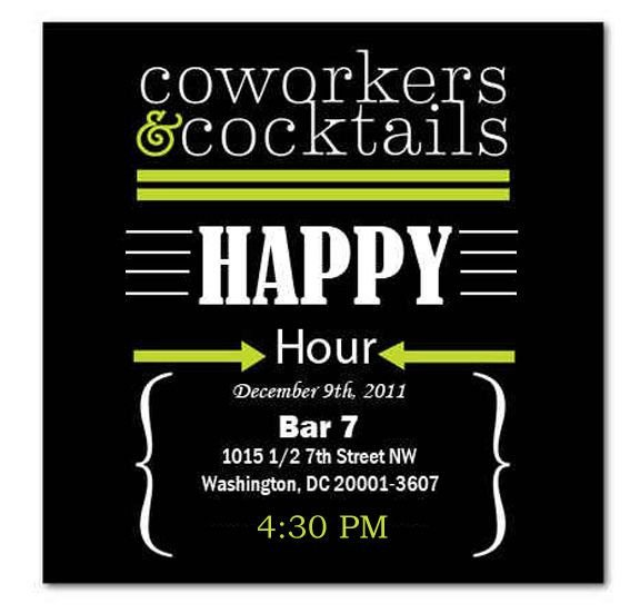 Happy Hour Invitation Template Happy Hour Invite Wording Samples Invitation Templates