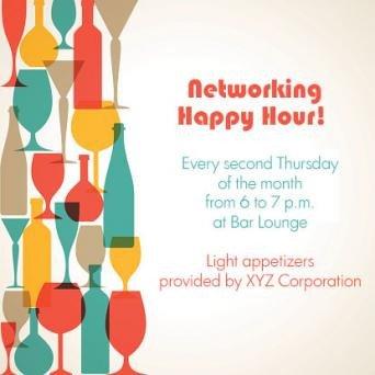 Happy Hour Invitation Templates Work Happy Hour Invite Wording Examples