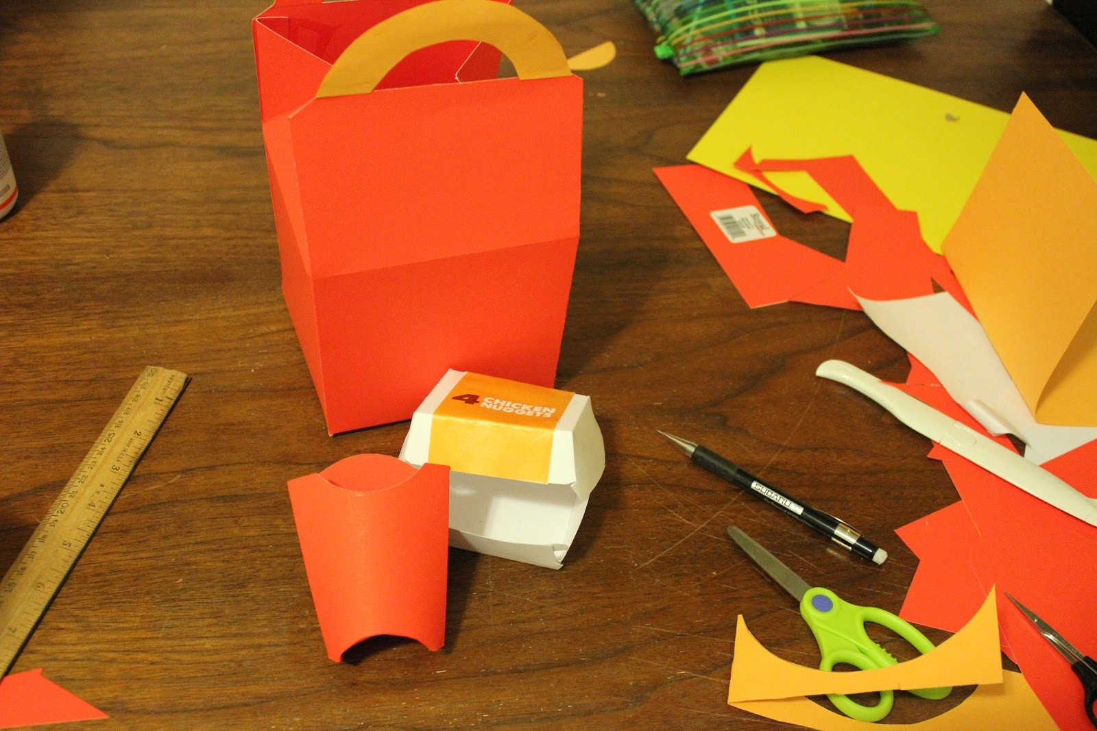 Happy Meal Box Template Homemade Happi Meal Repeat Crafter Me
