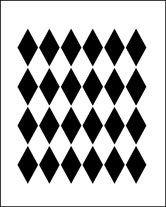 Harley Quinn Diamond Stencil Diamond Shapes Diamond Shape Stencil