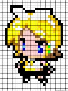 Hatsune Miku Pixel Art Grid 1000 Images About Perler Beads On Pinterest