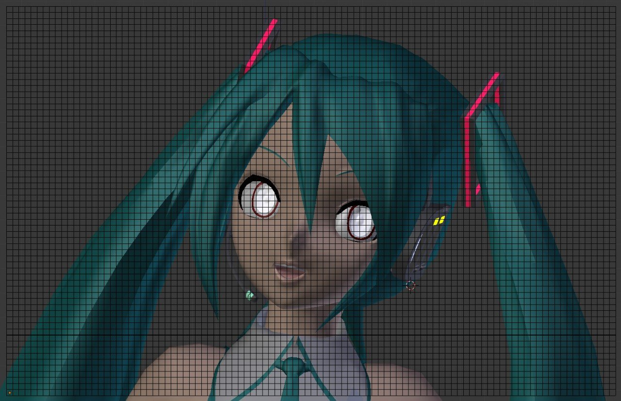 Hatsune Miku Pixel Art Grid Digital Diva Hatsune Miku Exterior Minecraft Project