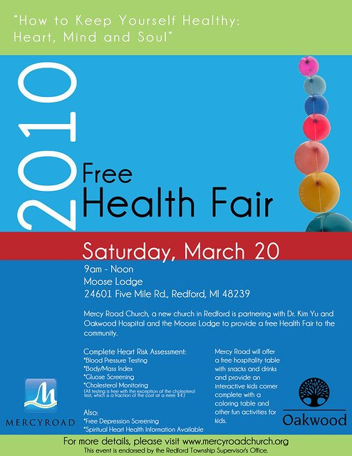 Health Fair Flyer Template Free Free Health Fair Flyer
