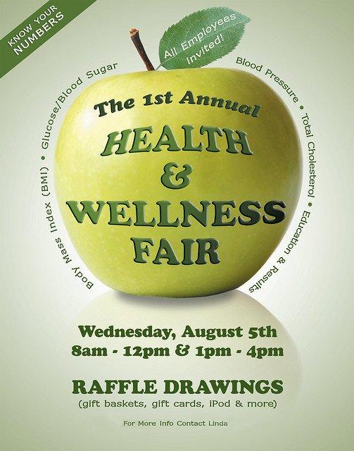 Health Fair Flyer Template Free Health & Wellness Fair Poster Flyer