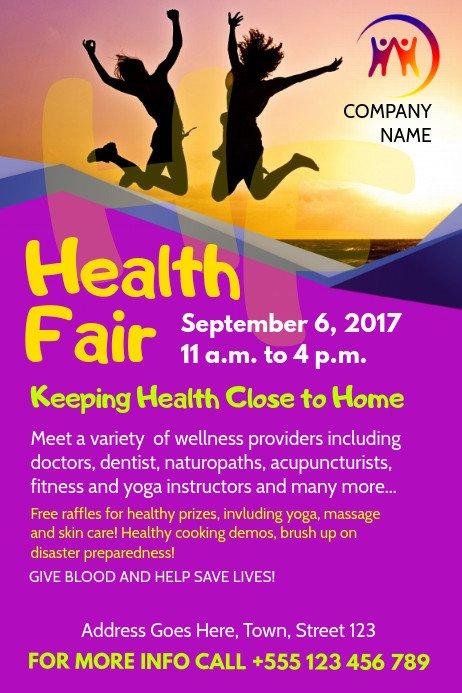 Health Fair Flyer Template Free Health Fair Flyer Template