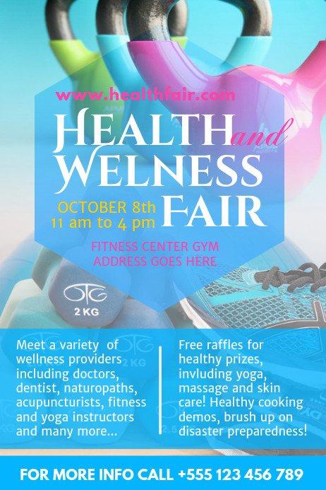 Health Fair Flyer Template Free Health Fair Poster Template