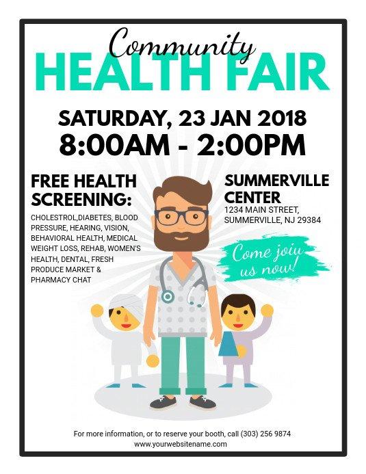 Health Fair Flyer Template Free Munity Health Fair Flyer Template