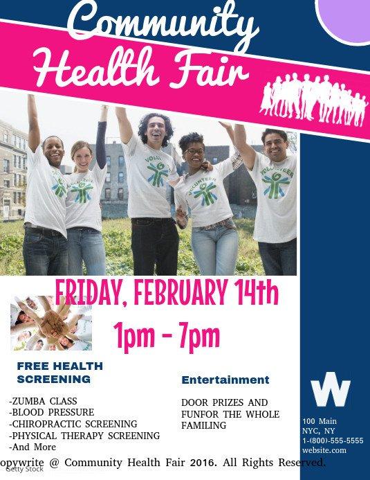 Health Fair Flyer Template Free Munity Health Fair Template