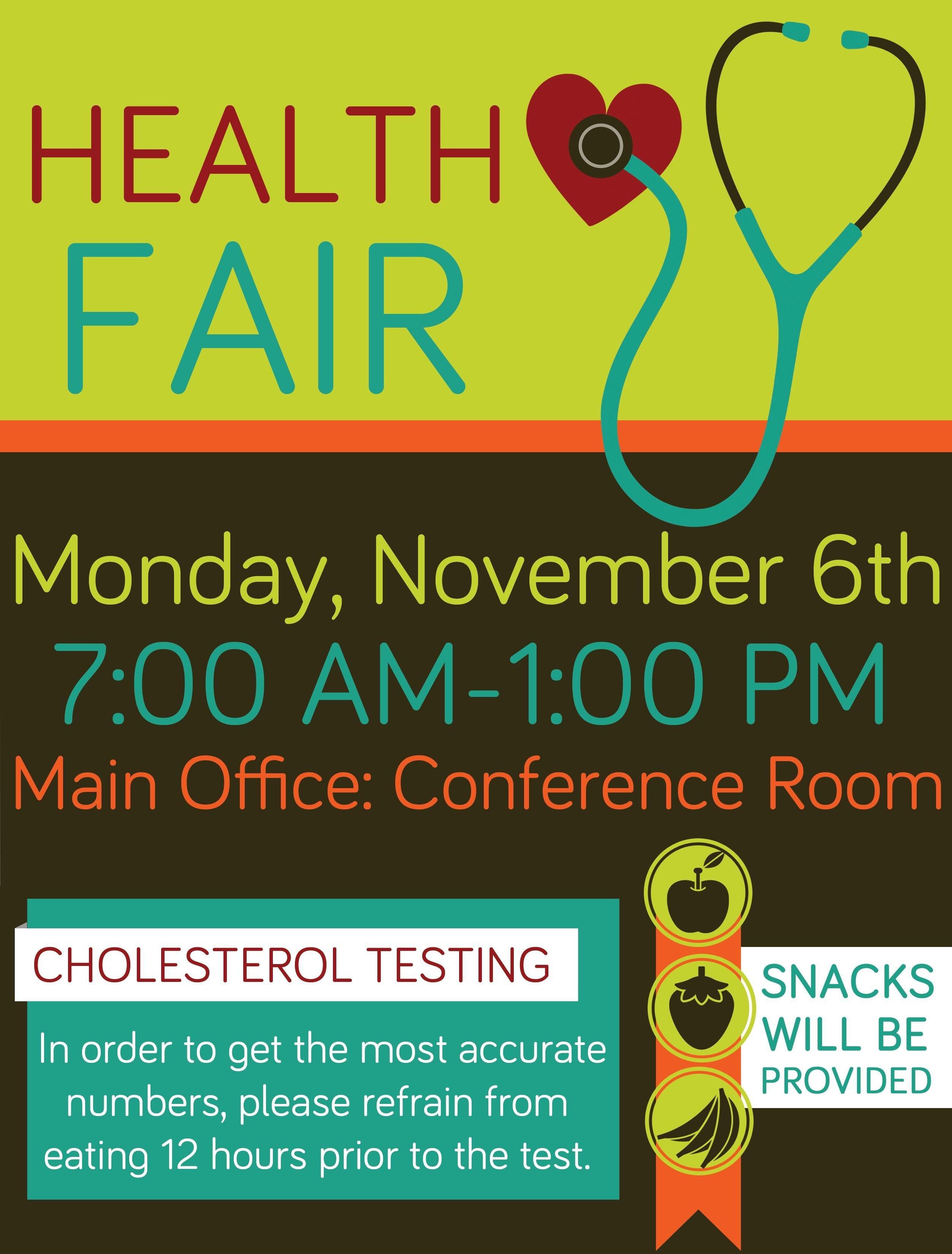 Health Fair Flyer Template Free Pany Health Fair Flyer Graphic Design School Health