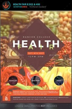 Health Fair Passport Template Flyer Sample Health Fair Ideas Pinterest