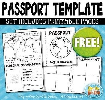 Health Fair Passport Template Free Passport Booklet Template Bundle Zip A Dee Doo Dah