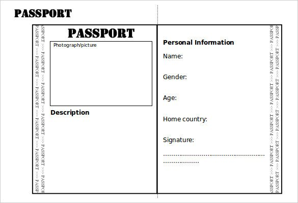 Health Fair Passport Template Health Fair Passport Template