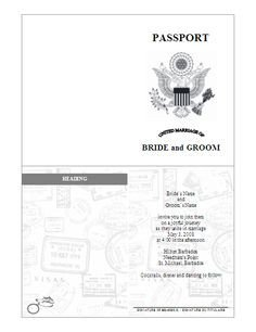 Health Fair Passport Template Passport Invitation Template Vector