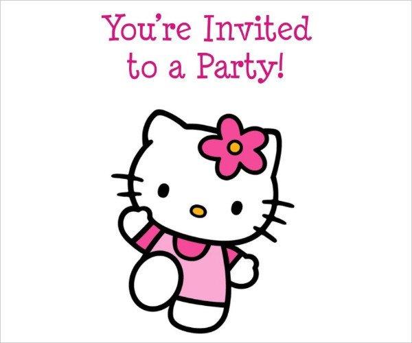 Hello Kitty Birthday Invitation 52 Birthday Invitation Templates Psd Ai