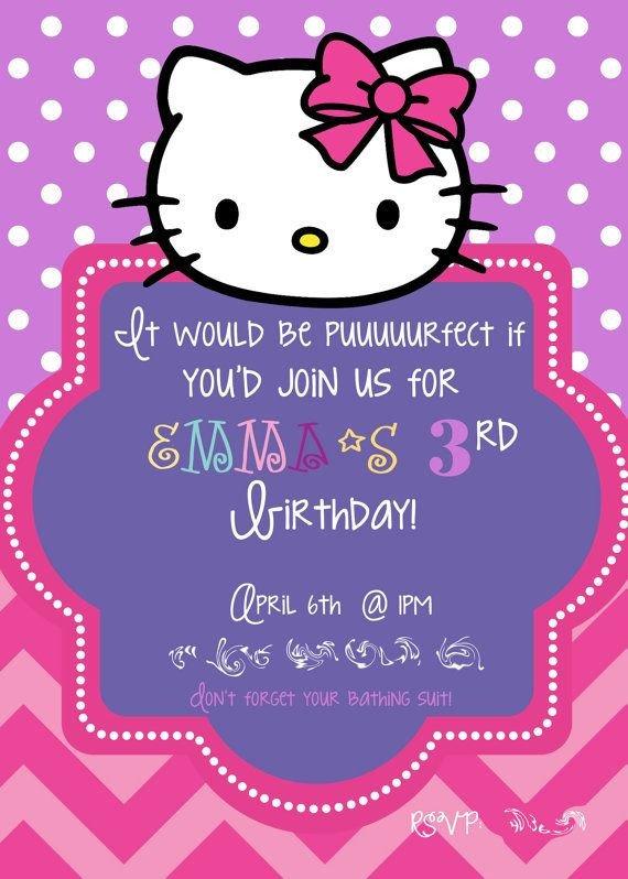 Hello Kitty Birthday Invitation 581 Best Images About Hello Kitty On Pinterest