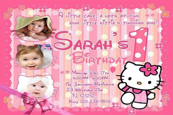 Hello Kitty Birthday Invitation 71 Printable Birthday Invitation Templates Word Psd