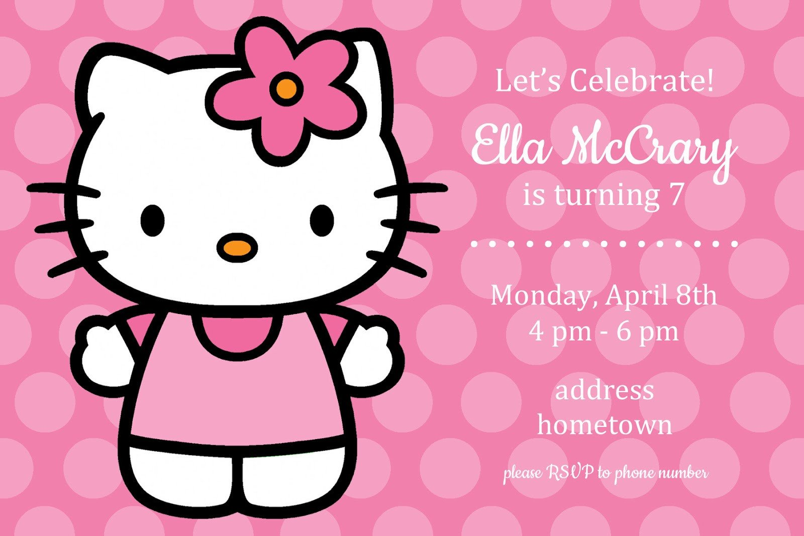 Hello Kitty Birthday Invitation All Things Simple Simple Celebrations Hello Kitty Party