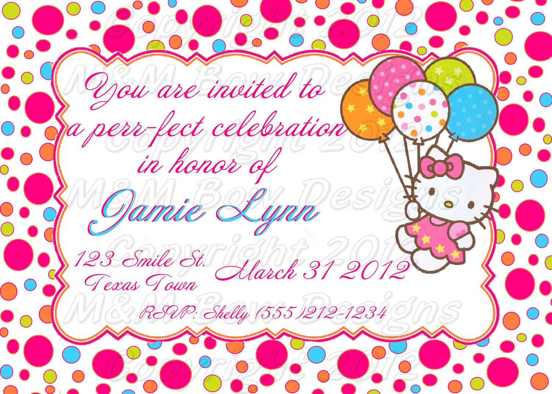 Hello Kitty Birthday Invitation Diy Printable Hello Kitty Birthday Invitation & Thank You Set