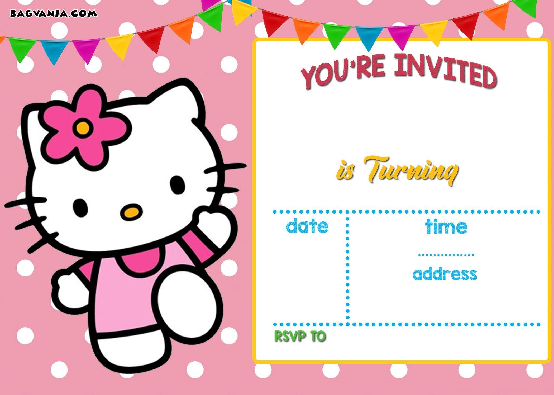 Hello Kitty Birthday Invitation Free Hello Kitty Invitation