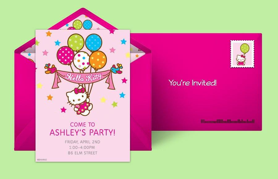 Hello Kitty Birthday Invitation Free Hello Kitty Invitations Hello Kitty Line