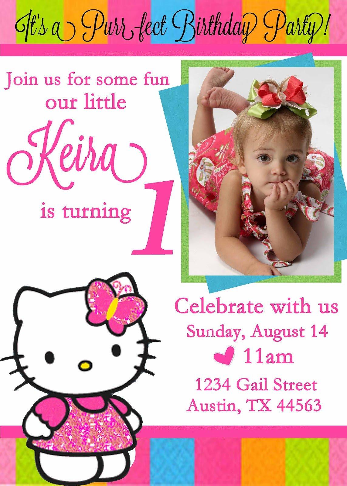 Hello Kitty Birthday Invitation Free Personalized Hello Kitty Birthday Invitations