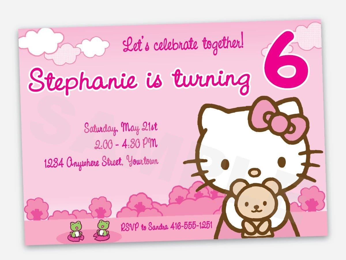 Hello Kitty Birthday Invitation Free Printable Hello Kitty Birthday Invitation