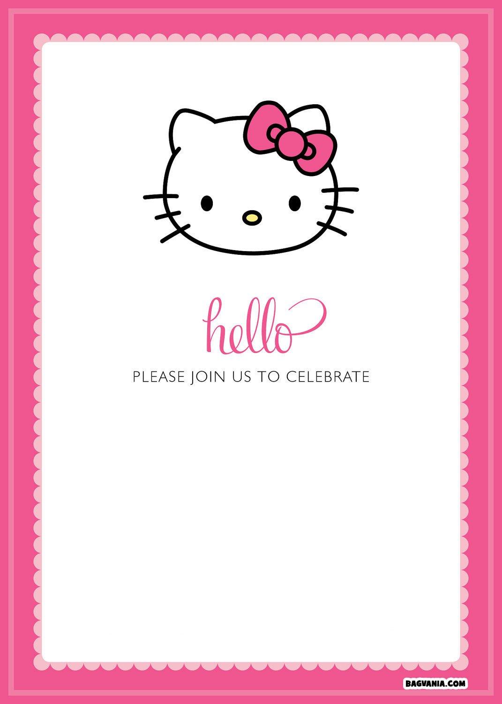 Hello Kitty Birthday Invitation Free Printable Hello Kitty Birthday Invitations – Free