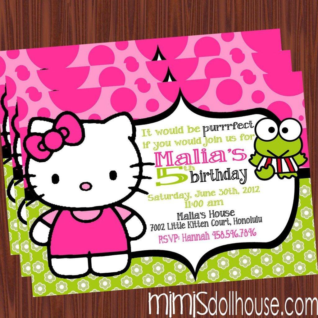 Hello Kitty Birthday Invitation Free Printable Hello Kitty Birthday Party Invitations