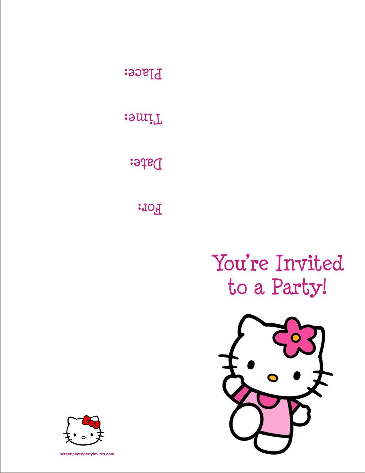 Hello Kitty Birthday Invitation Hello Kitty Free Printable Birthday Party Invitation