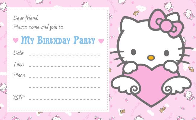 Hello Kitty Birthday Invitation Hello Kitty Printable Birthday Invitations Template
