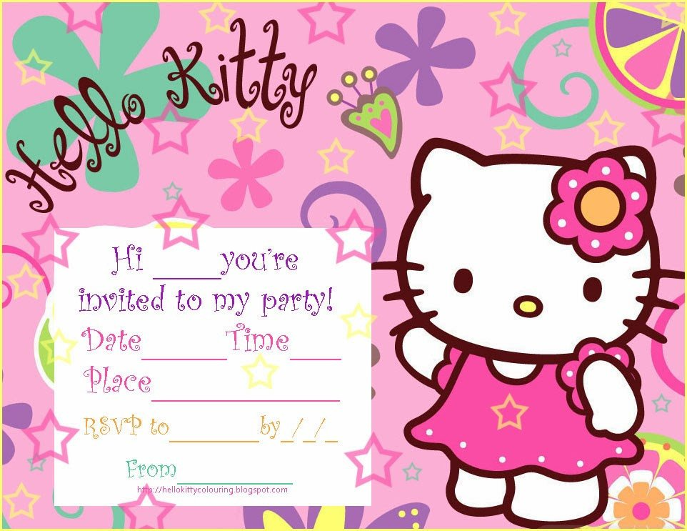 Hello Kitty Birthday Invitation Pretty Practical Mom Free Printable Hello Kitty Invitations
