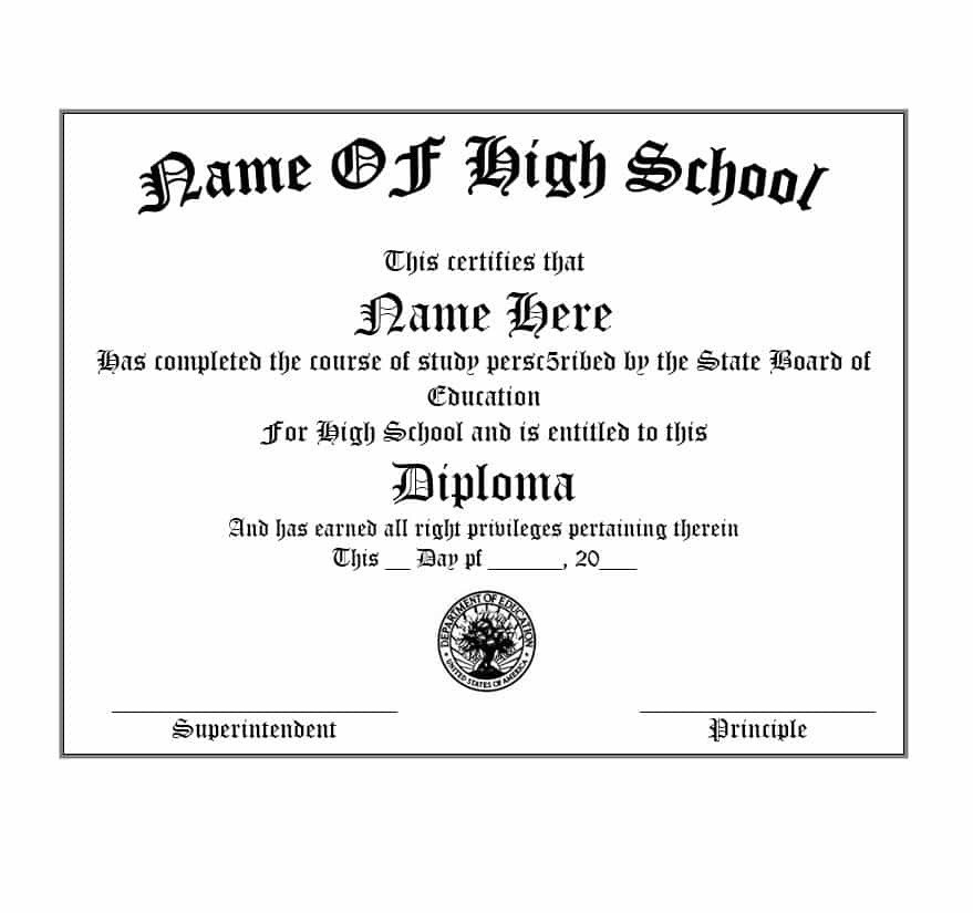 High School Diploma Template Pdf 30 Real & Fake Diploma Templates High School College