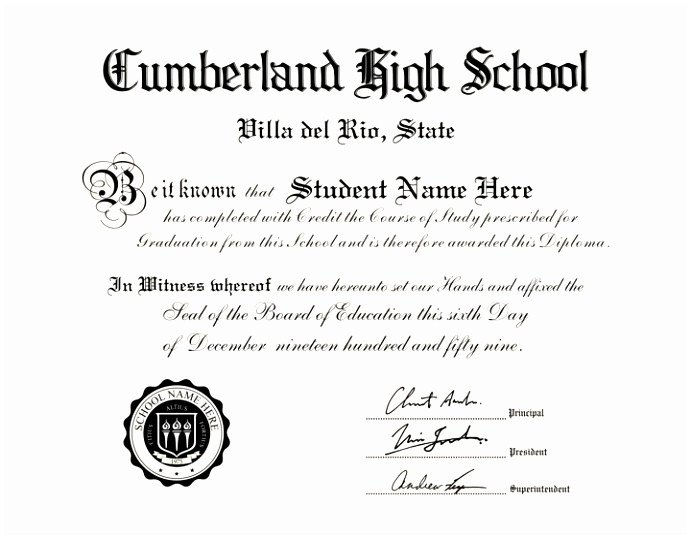 High School Diploma Template Pdf 5 High School Diploma Template with Seal Ioryu