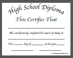 High School Diploma Template Pdf 50 Free High School Diploma Template Printable