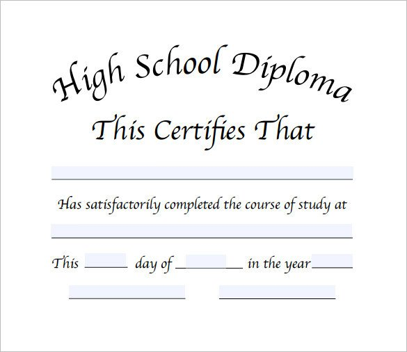 High School Diploma Template Pdf Diploma Certificate Template – 25 Free Word Pdf Psd
