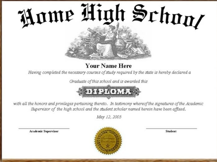 High School Diploma Template Pdf High School Diploma Template