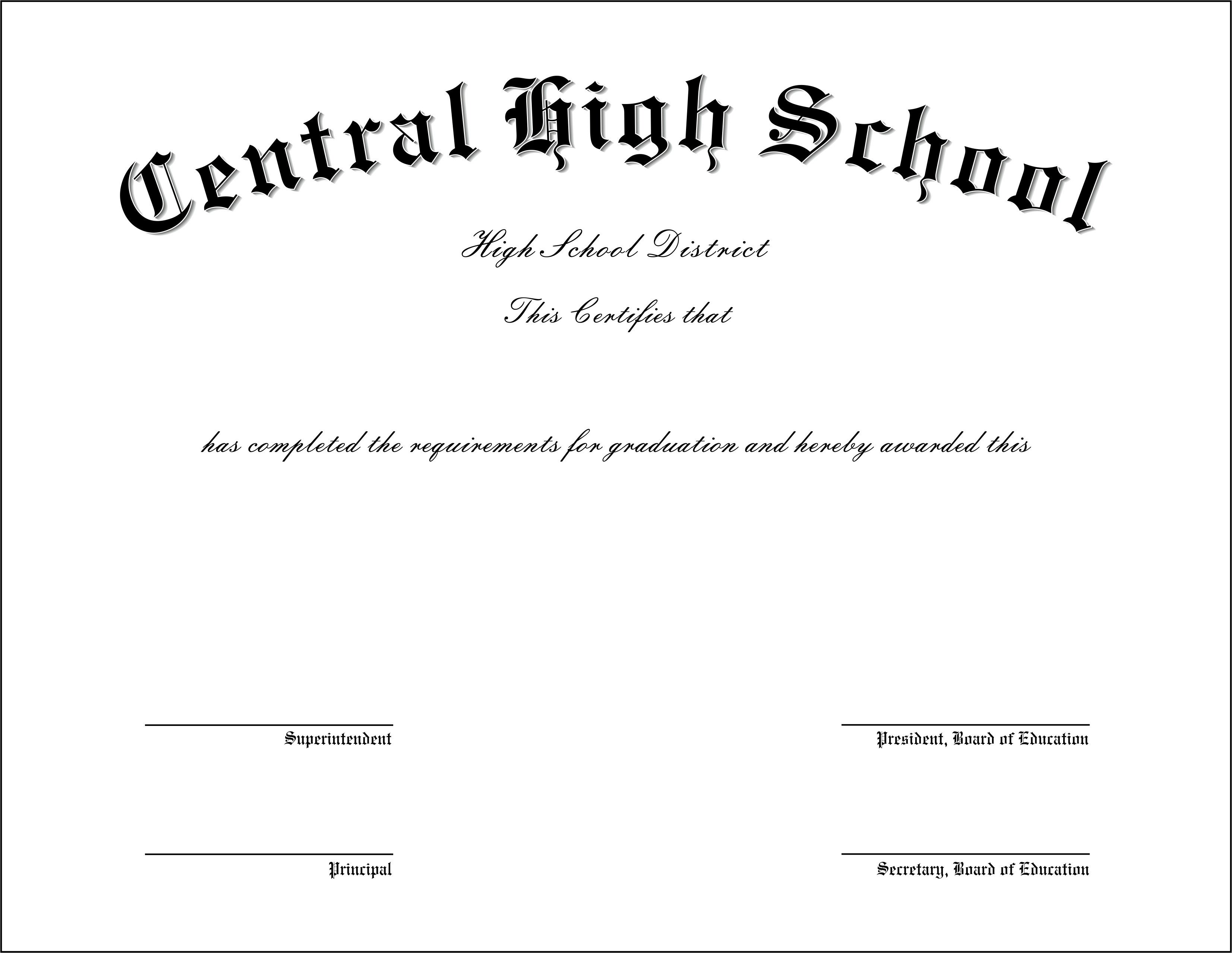 High School Diploma Template Pdf the Best Collection Of Diploma Templates for Every Purpose