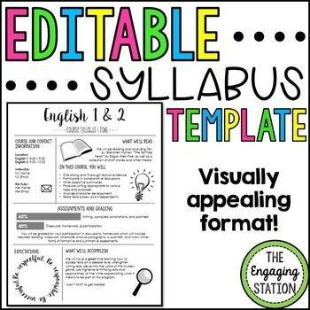 High School Syllabus Template Best 25 Syllabus Template Ideas On Pinterest