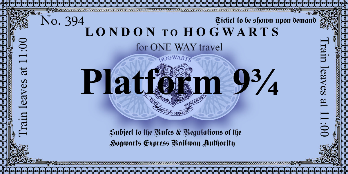 Hogwarts Express Ticket Template Harry Potter Paraphernalia the Letters Invitations