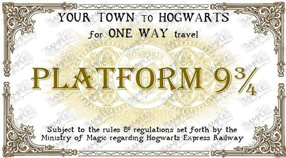 Hogwarts Express Ticket Template Hogwarts Express Train Ticket Personalized In 2 Sizes