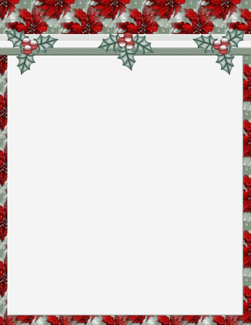 Christmas 2 FREE Stationery Template Downloads