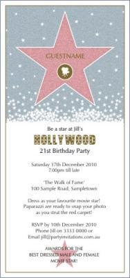 Hollywood themed Invitations Free Templates 40th Birthday Ideas Hollywood Birthday Invitation